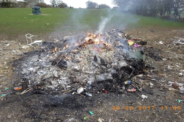 illegal burning of waste
