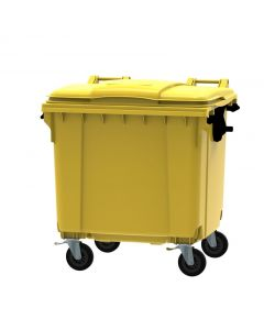 Special Offer 4 x 1100 Litre Wheelie Bins - Yellow- Customer Cancelled Order