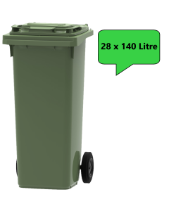 28 x 140 Litre Wheelie Bins in any Colour (Pallet Quantity)